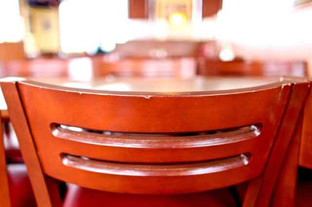 Picture of chairs at Bravos California Fresh restaurant where we deliver restaurant quality service!