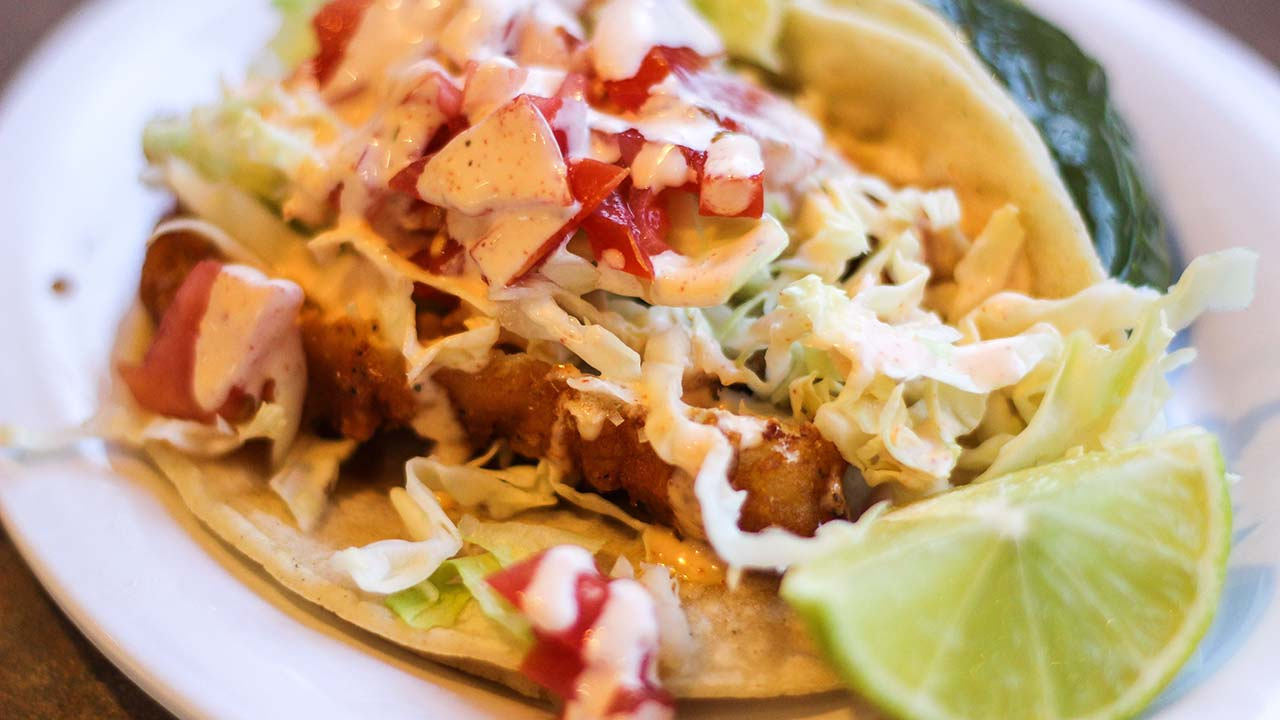 Grilled Fish Taco from Bravos California Fresh.