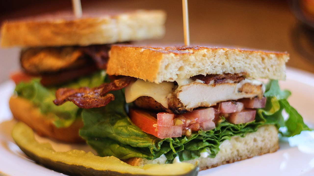 Bravos California Fresh traditional Chicken Club Sandwich.